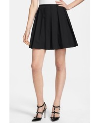 Minifalda plisada negra de RED Valentino