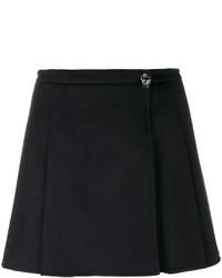 Minifalda plisada negra de Valentino