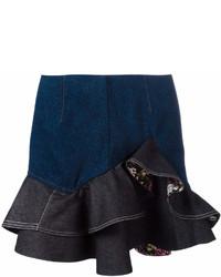 Minifalda vaquera azul marino de Alexander McQueen