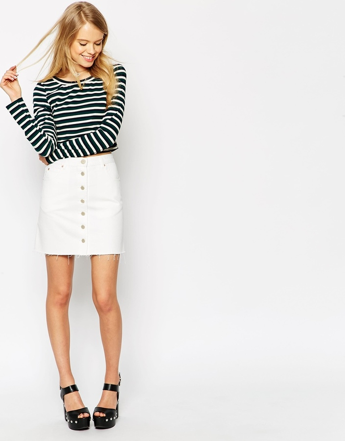 8e64bab520 Minifalda Vaquera Blanca de Asos  dónde comprar y cómo combinar