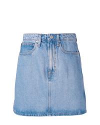 Minifalda vaquera celeste de Calvin Klein Jeans