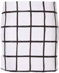 Minijupe à carreaux blanche et noire