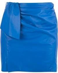 Minijupe en cuir bleue Isabel Marant