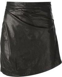 Minijupe en cuir noire Vivienne Westwood