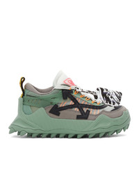 Off-White Green And Black Odsy 1000 Sneakers