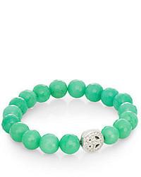 Boheme Jade Sterling Silver Bracelet