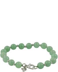 Fine jewelry sterling silver jade bead bracelet medium 270338