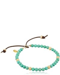 M.Cohen Handmade Designs Mcohen Hand Made Designs Turquoise Color Beads With Gold Stardust Detail Bracelet