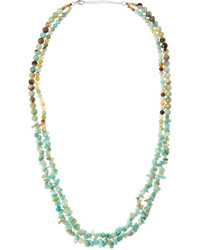 Mixed double strand amazonite bead necklace mint medium 715290