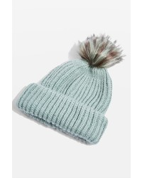 Tip faux fur pom beanie hat medium 6860619