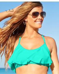 Jessica Simpson Flounce Bikini Top