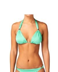 Ginja platinum grecian slide triangle bikini top mint medium 270362