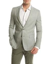 Melange slim fit sport coat green medium 3648448