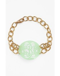 Moon and Lola Annabel Medium Oval Personalized Monogram Bracelet