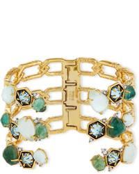 Mosaic bypass hinge cuff bracelet medium 832134
