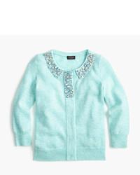 J.Crew Girls Jewel Collar Cashmere Cardigan Sweater