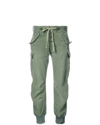 Greg Lauren Elasticated Waist Cargo Trousers