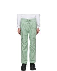 John Elliott Green Cotton Cargo Pants