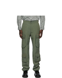 Kenzo Green Logo Cargo Pants
