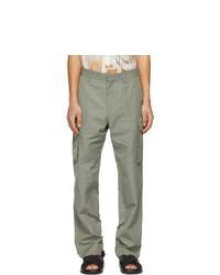 Stella McCartney Khaki Shared Cotton And Linen Cargo Pants