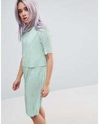 Double layer t shirt dress in plisse medium 3642580