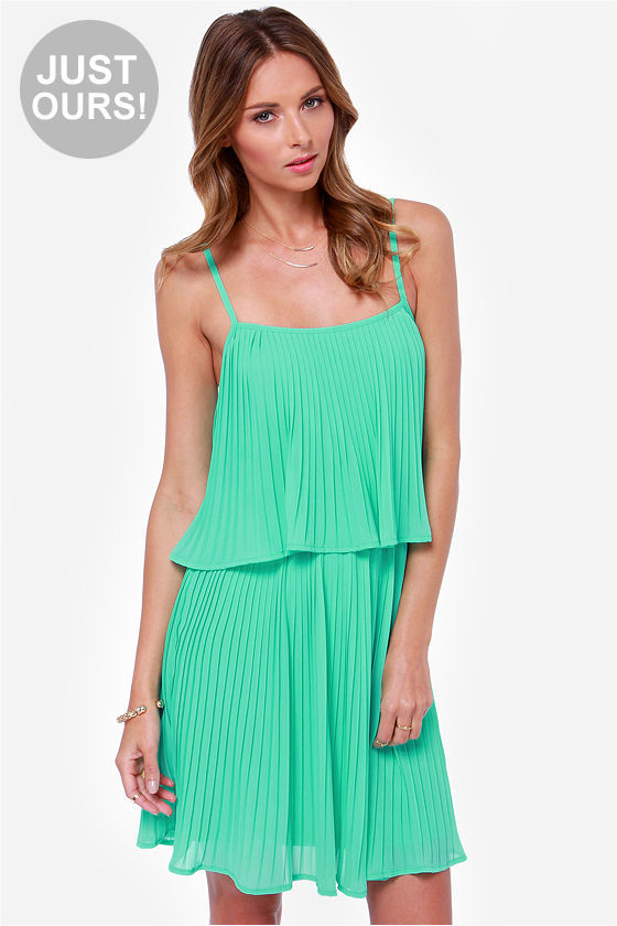 LuLu*s Lulus As You Swish Pleated Mint Green Dress | Where to buy ...
