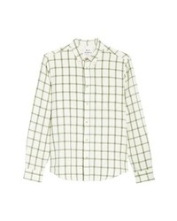 Acne Studios Isherwood Linen Cotton Check Sport Shirt