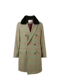Mint Check Overcoat