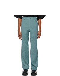 Issey Miyake Men Blue Cotton Trousers