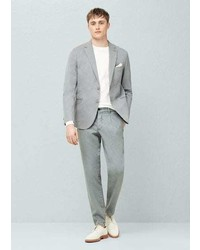 Mango Outlet Pleated Cotton Chinos