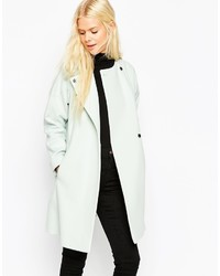 Asos Collection Coat In Trapeze In Waterfall Front