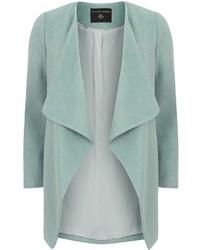 Dorothy Perkins Mint Waterfall Front Coat