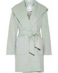 Max Mara Hooded Camel Hair Coat Mint