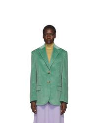 Acne Studios Green Vintage Cord Jantine Blazer