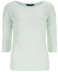 Dorothy Perkins Mint Vergiated Stripe Knit