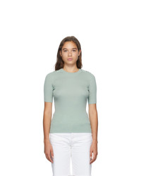 3.1 Phillip Lim Green Picot Stitch T Shirt