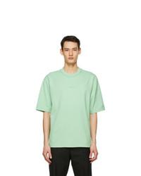 Acne Studios Green Printed T Shirt