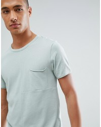 Tom Tailor T Shirt In Green Cut Sew With Chest Pocket