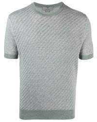 Canali Textured Panel T Shirt