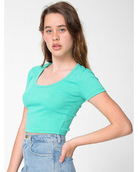 American apparel baby rib crop t medium 146453