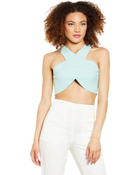 Dailylook Cross Front Crop Top In Lavender M L