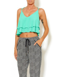 Tyche Mint Crop Top