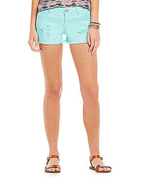 Mint Denim Shorts