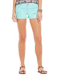 Celebrity Pink Lace Inset Denim Shorts