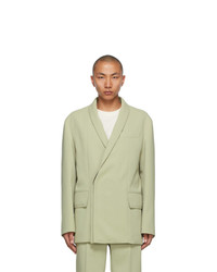 Wooyoungmi Green Concealed Double Breasted Blazer