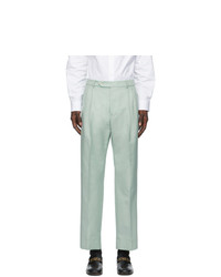 Gucci Blue Mohair And Wool Trousers