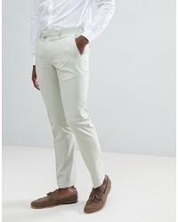 Farah Smart Farah Skinny Suit Trousers In Green