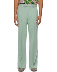 Gucci Green Wool Vintage Cover Trousers