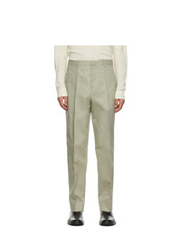 Jil Sander Taupe Cotton Pique Trousers