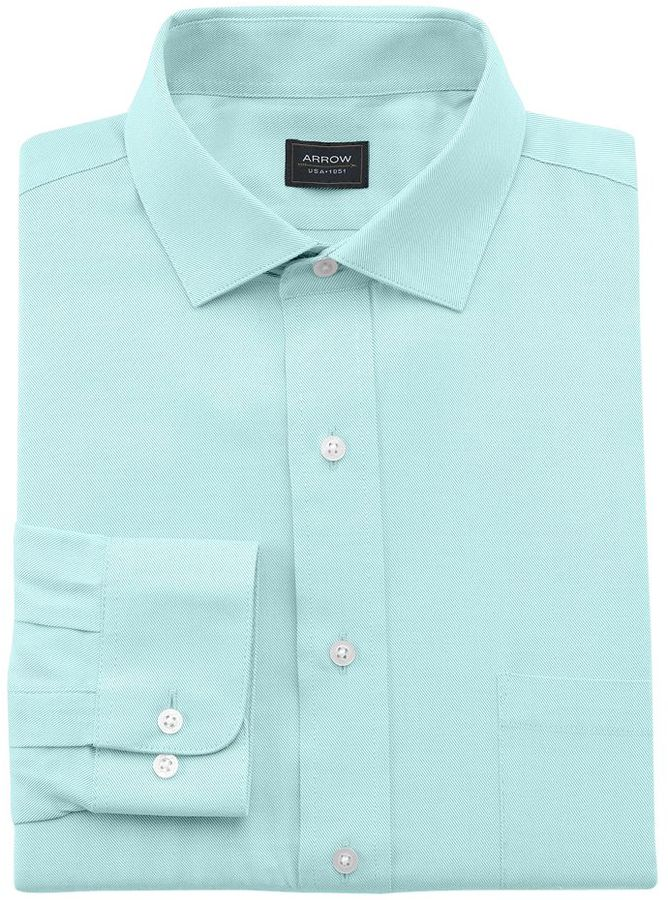 Arrow classic fit heritage twill wrinkle free spread for Where to buy a dress shirt